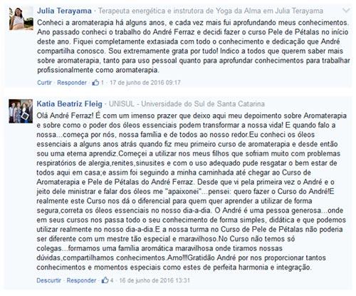 Depoimentos Pele de Petalas - Andre Ferraz