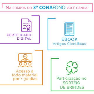 Inscrição no 3º CONAFONO (Congresso Nacional Online de Fonoaudiologia)