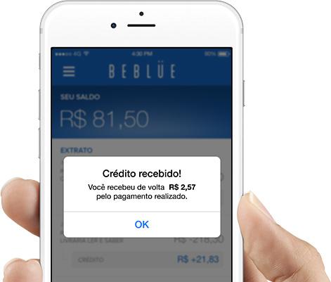 Beblue Cashback Notificação
