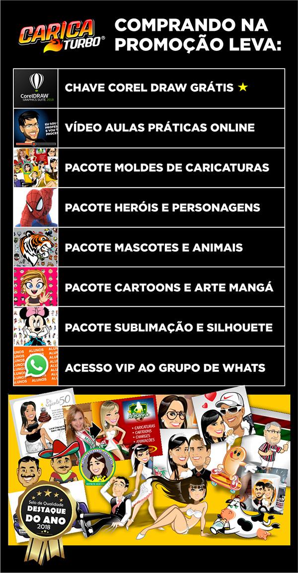 Caricaturbo PREMIUM - Pacote