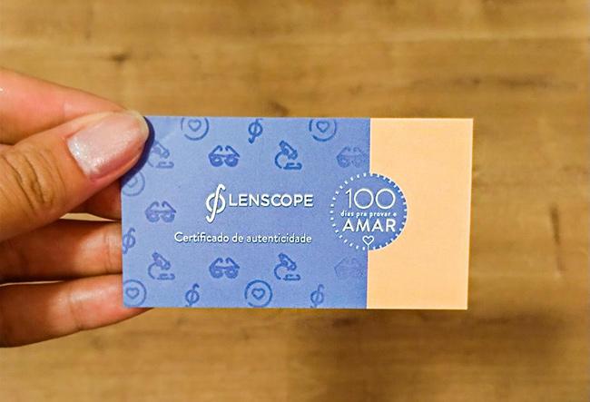 Lenscope - 100 dias para provar e AMAR - Certificado de Autenticidade