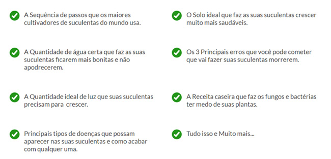 Manual das Suculentas - Conteúdo do e-Book
