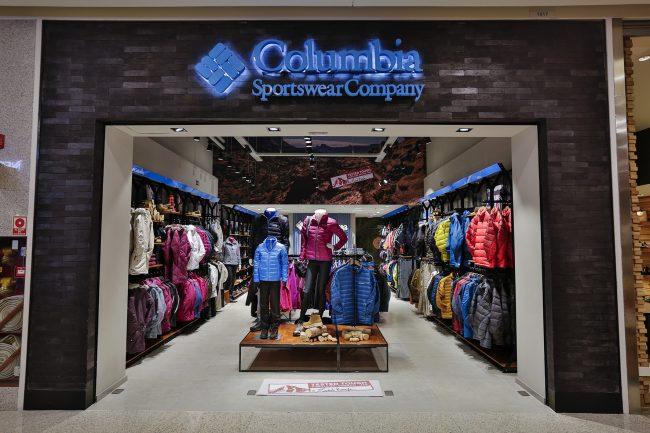 Lojas Fisicas Columbia Sportswear Company no Brasil