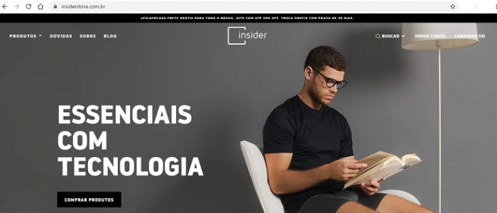 Site Insider Store www.insiderstore.com.br