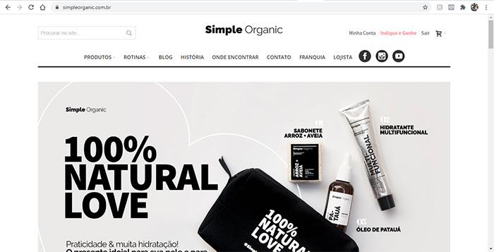 Como Comprar e onde encontrar Simple Organic