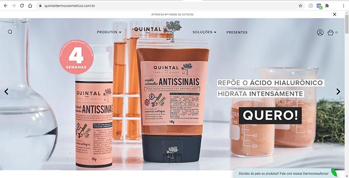 Site Oficial Quintal Dermocosméticos - www.quintaldermocosmeticos.com.br
